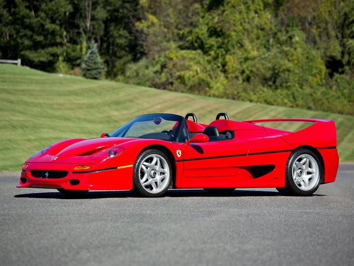 The Ferrari F50 is not often considered the most attractive of their road  cars. It did however serve as one hell of a basis for a future racing car. 860a48e4a39b