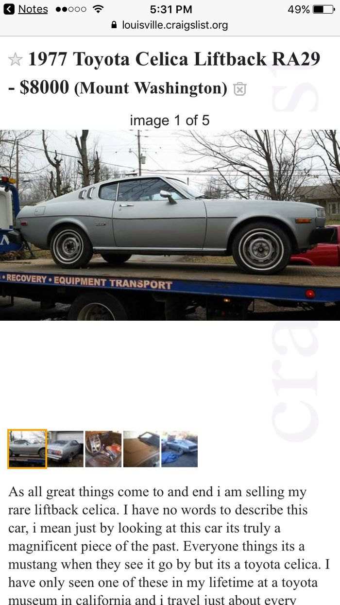 The only japanese car on this list and it s a really great one a liftback celica i struggle to choose if i d buy one of these or an s30 z coupe