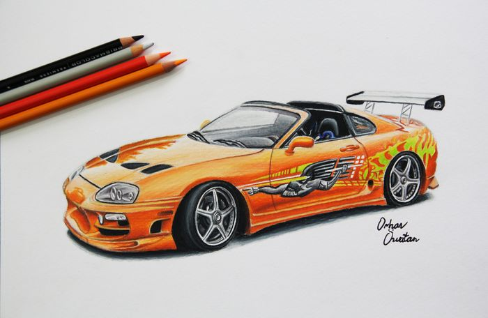 Toyota SUPRA | The Fast and The Furious | Car Drawing by Me