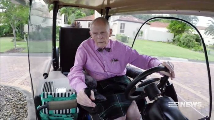 92-Year-Old Cautioned By Police For Sding In Golf Buggy on black golf cart, boy golf cart, vampire golf cart, girl golf cart, married golf cart, vintage golf cart, pregnant golf cart, celebrity golf cart, fat golf cart, wife golf cart, public golf cart, japanese golf cart, midget golf cart, russian golf cart, swedish golf cart, mexican golf cart, medical golf cart, pantyhose golf cart, outdoor golf cart, italian golf cart,