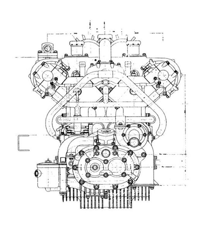1926 Fiat Type 406 Cut Short of Glory – Intricate Engine Diagram