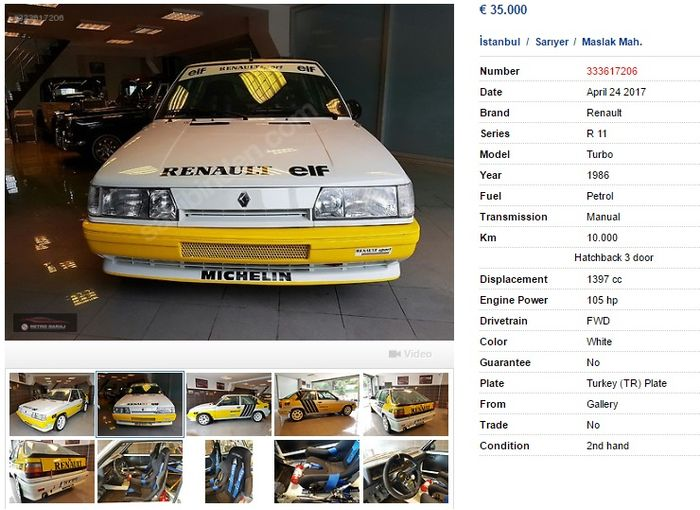 Group A Spec Renault R11 Turbo