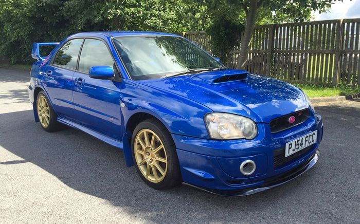 the blobeye subaru impreza wrx sti is the best way to get your blue and gold fix on a relative. Black Bedroom Furniture Sets. Home Design Ideas