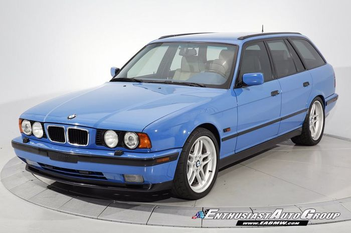 This Restored High-Mileage BMW E34 M5 Touring Is Somehow Priced At ...