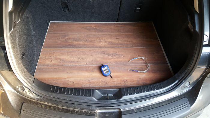 Wood Floor In Hatch Trunk Boot