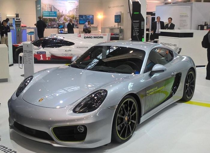 Porsche builds electric Cayman to showcase new EV tech