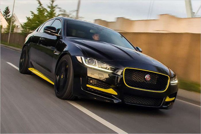 german tuning company arden has modified the jaguar xe. Black Bedroom Furniture Sets. Home Design Ideas