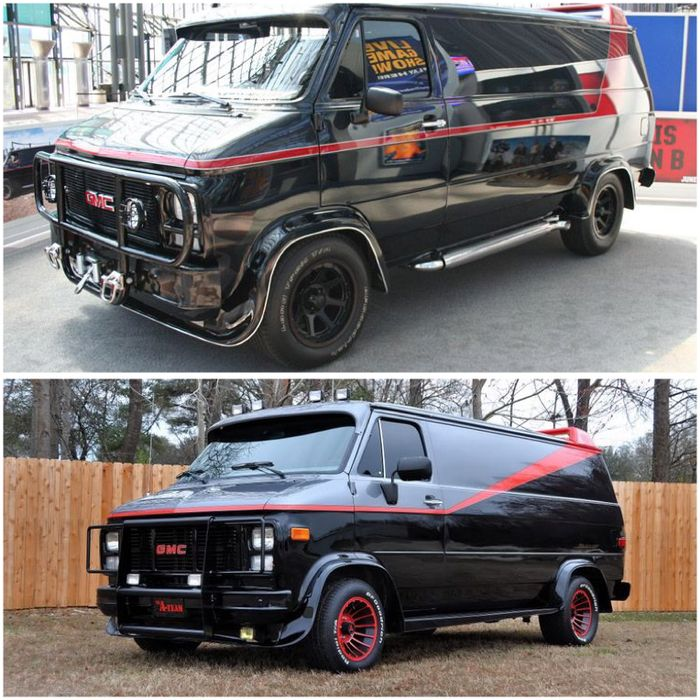 The A Team Van May Be One Of Most Famous Movie Cars From 1980s Its Iconic Red On Black Paint Job Has Become An Icon And Inexpensive Platform