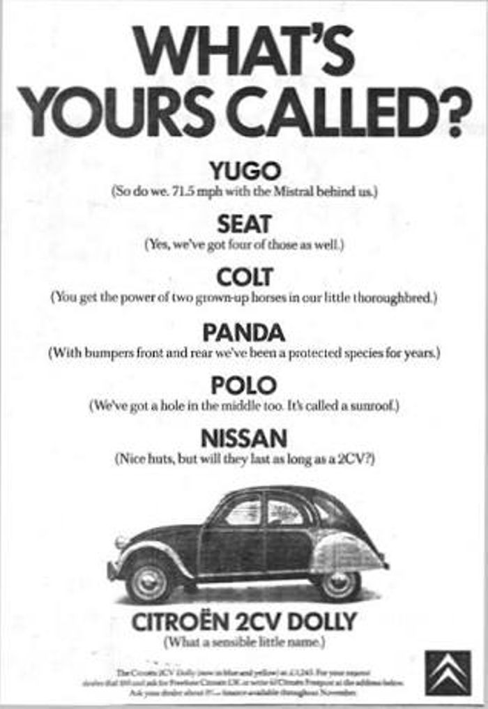 Citroen - Some old Citroen 2CV adverts that i stole from Google, enjoy - Funny
