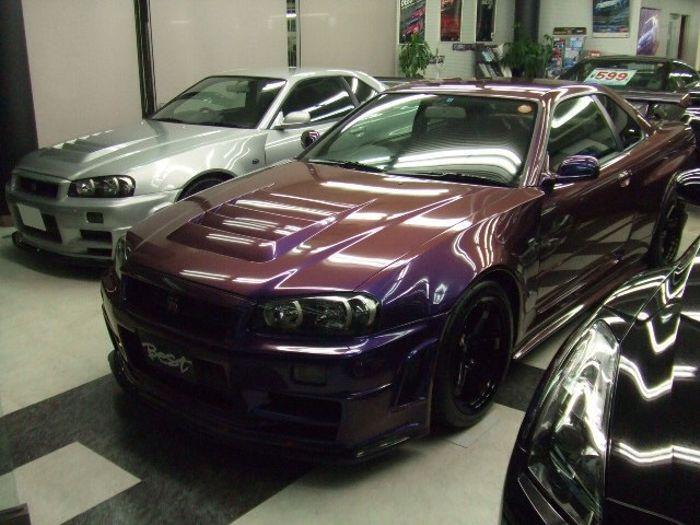 The Unique Midnight Purple Nissan Skyline R34 Gt R Z Tune