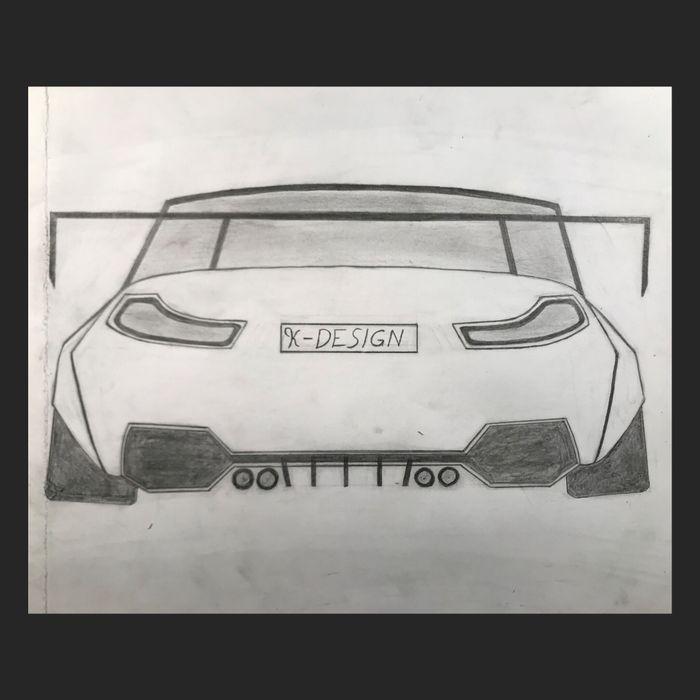 Custom BMW M4 Wide-body Drawing