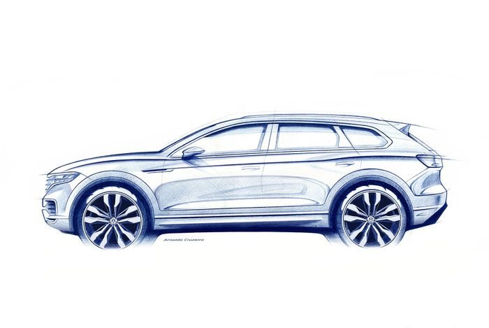VW Touareg Teases Sharper Shape Ahead Of March 23 Debut