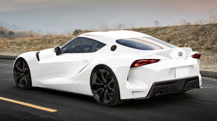 here 39 s how the toyota gr supra concept looks without the wings. Black Bedroom Furniture Sets. Home Design Ideas