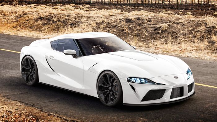 Here S How The Toyota Gr Supra Concept Looks Without The Wings