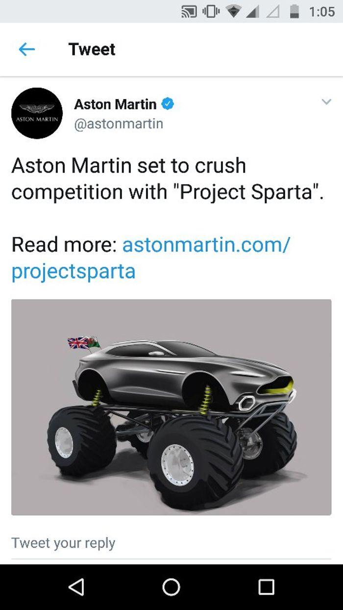 Aston Martin With A Pretty Good April Fools Joke