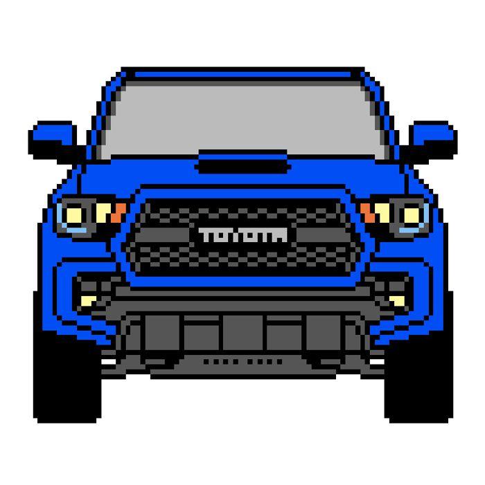 Pixel Art Toyota Tacomo Pixelart