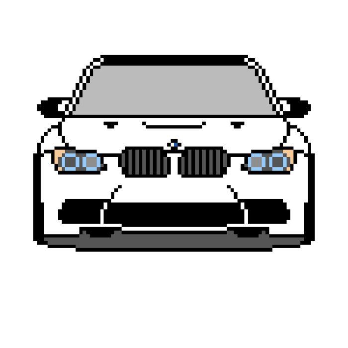 Pixel Art E92 M3 Pixelart