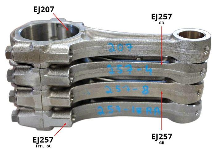 Type RA vs  STI Engine Updates