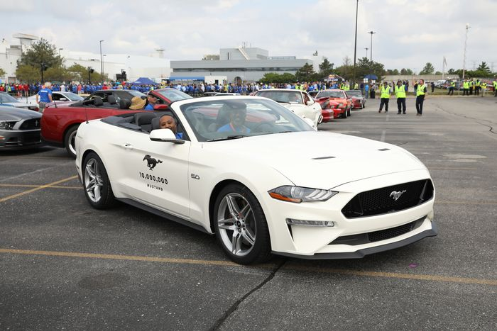 Ford built its 10 millionth Mustang in Detroit today