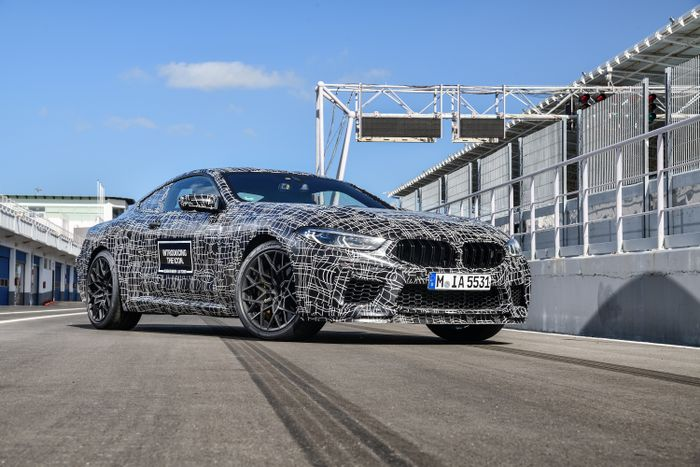 BMW M8 is shown in testing with over 600 horsepower