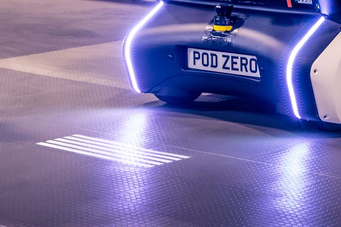 Jaguar Land Rover's Autonomous Pod dumps its eyes and gets LIGHTS
