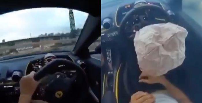 Ferrari 812 Superfast Driver Films Himself Crashing In Central London