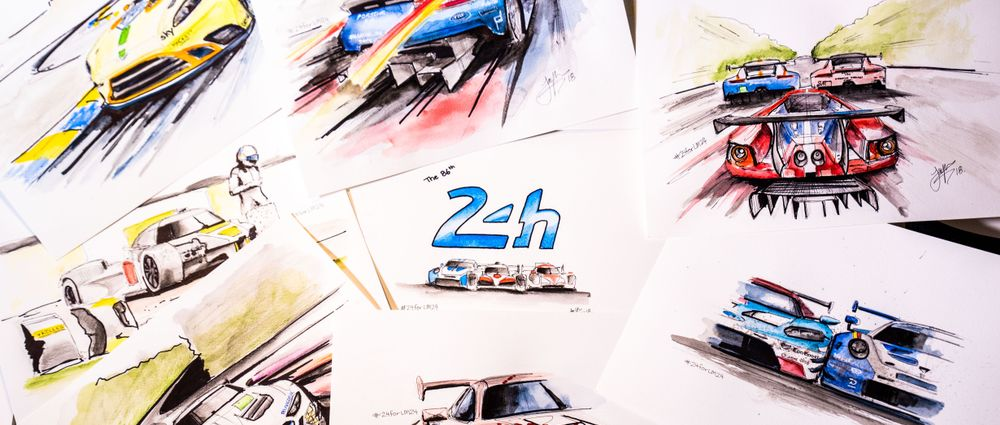 These Amazing Artworks Tell The Story Of This Year's Le Mans 24 Hours