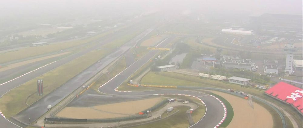Hardly Any F1 Action Took Place At The Chinese GP On Friday