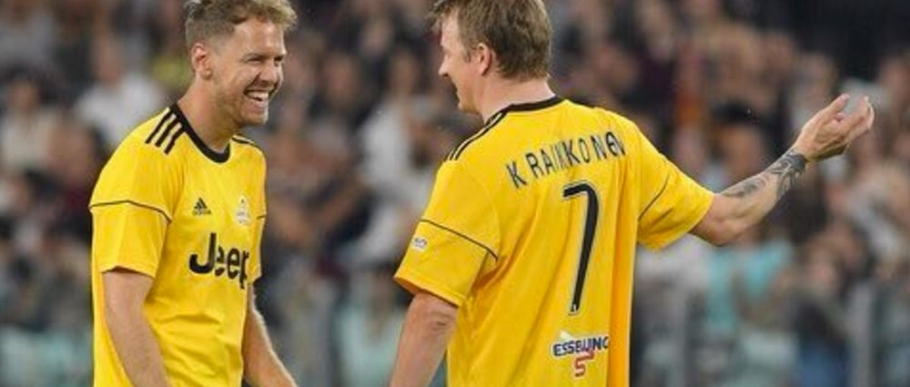Raikkonen Scored A Hat-Trick In A Charity Football Game With Vettel