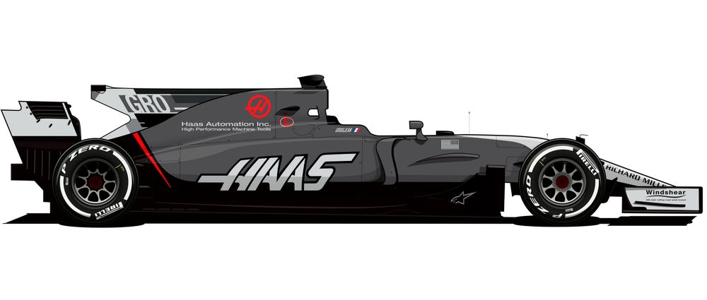 Haas Reveals 2017 F1 Livery Change With Even More Grey