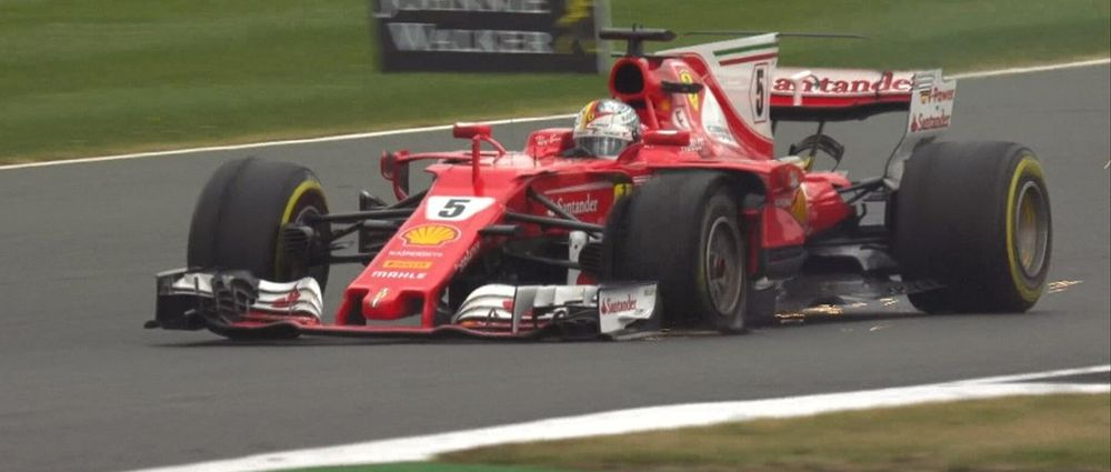 Both Ferraris Suffered Tyre Failures In The Final Laps At Silverstone