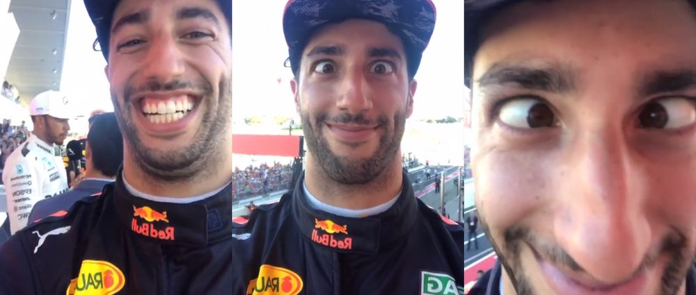 Hamilton Left His Phone On The Podium And Ricciardo Had Some Fun