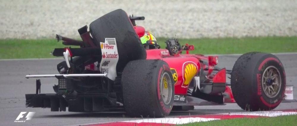 Vettel And Stroll Collide In Bizarre Post-Race Crash