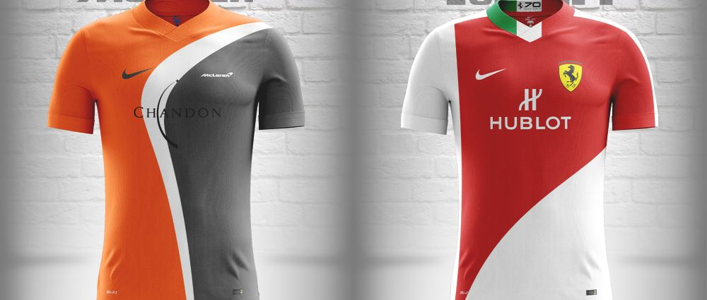 If F1 Teams Were Premier League Football Clubs Their Kits Might Look Something Like This
