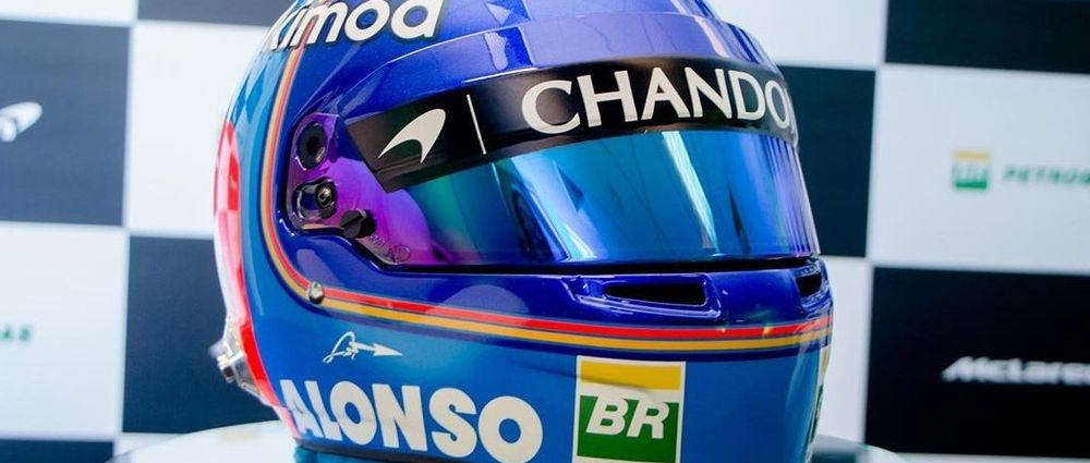 Here's Alonso's Very Different Helmet Design For 2018