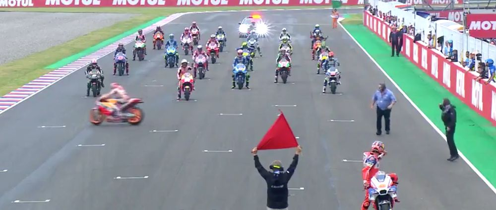 The Argentine MotoGP Race Had The Most Farcical Yet Hilarious Race Start Ever