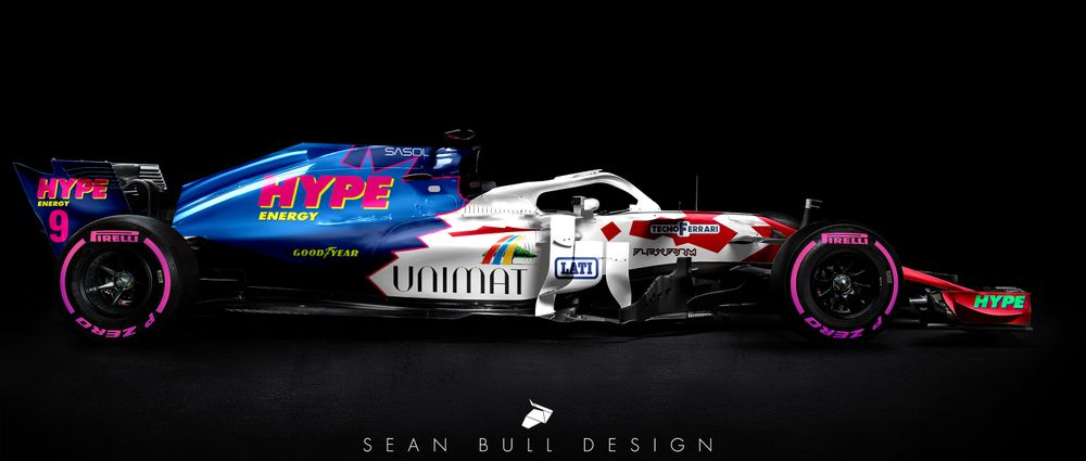 Old-School Backmarker Liveries On Modern F1 Cars Look Ridiculously Good