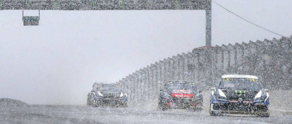 It Snowed During The World Rallycross Round In Portugal And It Looked Epic