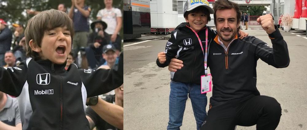 A Young McLaren Fan Was Seen Cheering On TV And Got To Meet Alonso