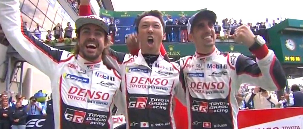 Alonso, Buemi And Nakajima Just Won The Le Mans 24 Hours