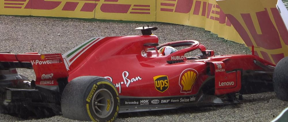 Vettel Seemed Super Chilled Despite Crashing Out Of The Lead