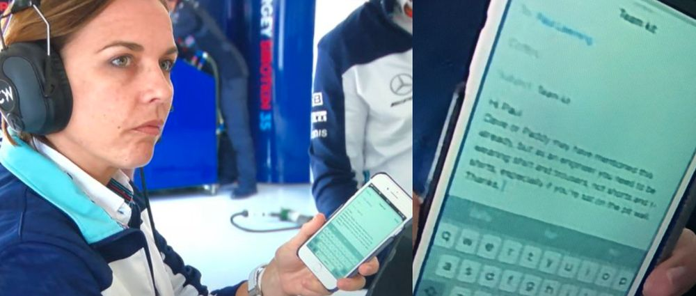A Williams Engineer Accidentally Got Called Out For Wearing The Wrong Clothes On Live TV