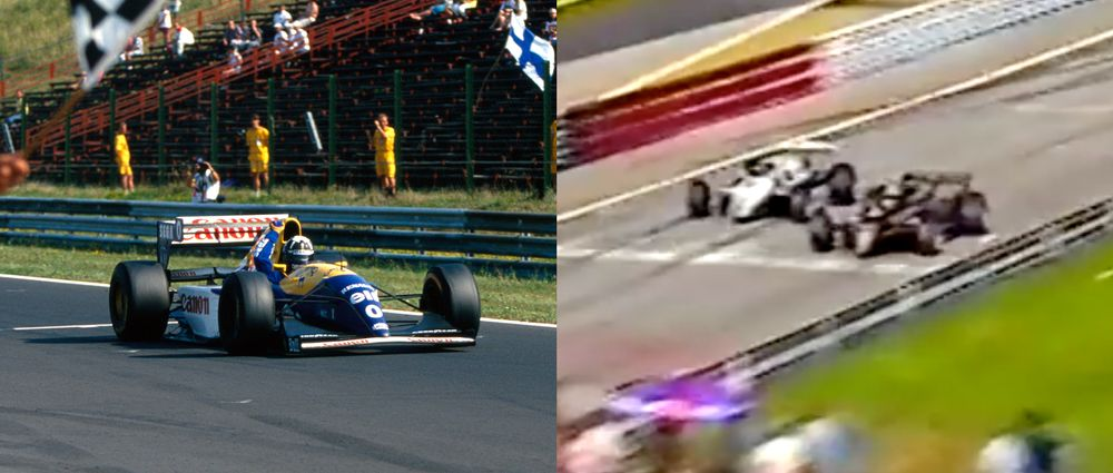 On This Day In F1 - Hill Wins His First Race And De Angelis Beats Rosberg By 0.05 Seconds
