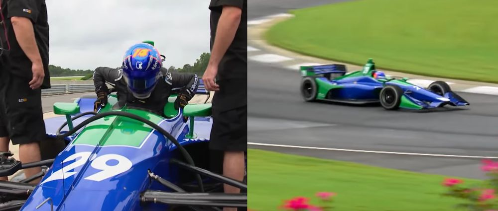 Watch Fernando Alonso Drive An IndyCar On A Road Course For The First Time