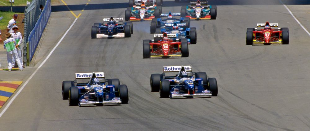 On This Day In F1 - Hill Won By Two Laps As Coulthard Crashed In The Pit Lane