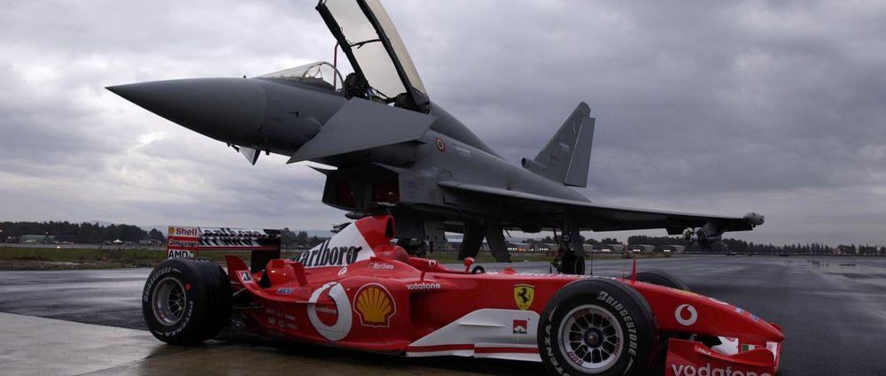 On This Day In F1 - Schumacher Raced Against A Fighter Jet