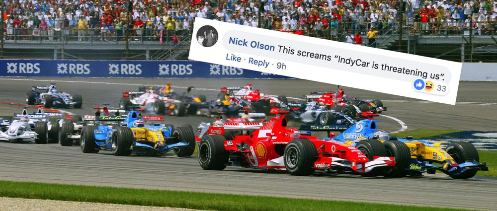 F1 Has Asked Fans Why They Prefer F1 To IndyCar And People Aren't Happy