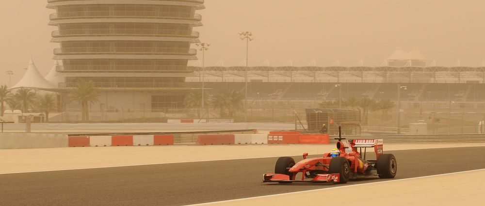 On This Day In F1 - A Sandstorm Stopped Play During Testing