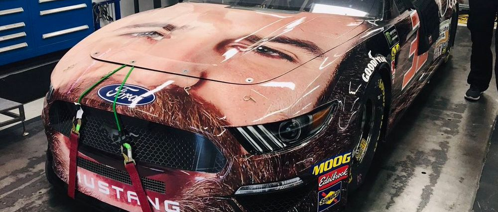 The Livery For This Nascar Team Is Just The Driver's Face