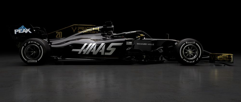 Haas Has Revealed Its 2019 Livery And Yep, It's Black And Gold